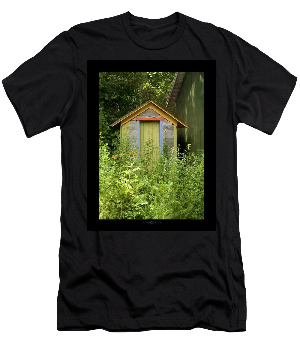 Outhouse Men's T-Shirt (Athletic Fit) featuring the photograph Outhouse by Tim Nyberg
