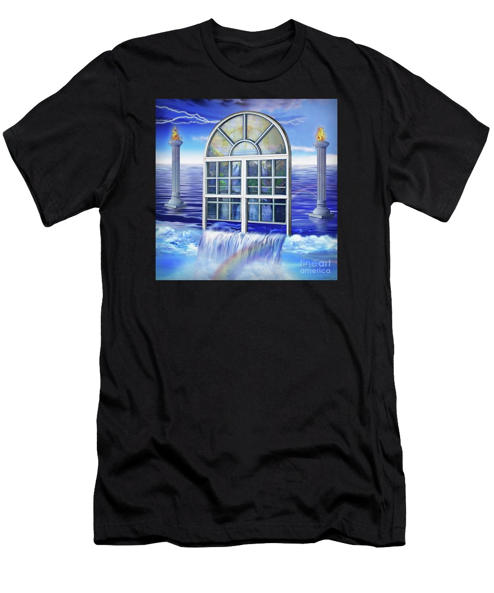 Outpouring Men's T-Shirt (Athletic Fit) featuring the painting Outpouring by Todd L Thomas