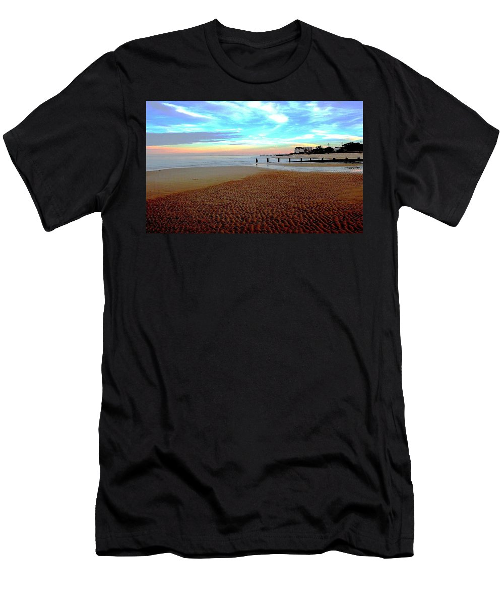 Landscape Men's T-Shirt (Athletic Fit) featuring the photograph O.v. Shoreline by John C Bell