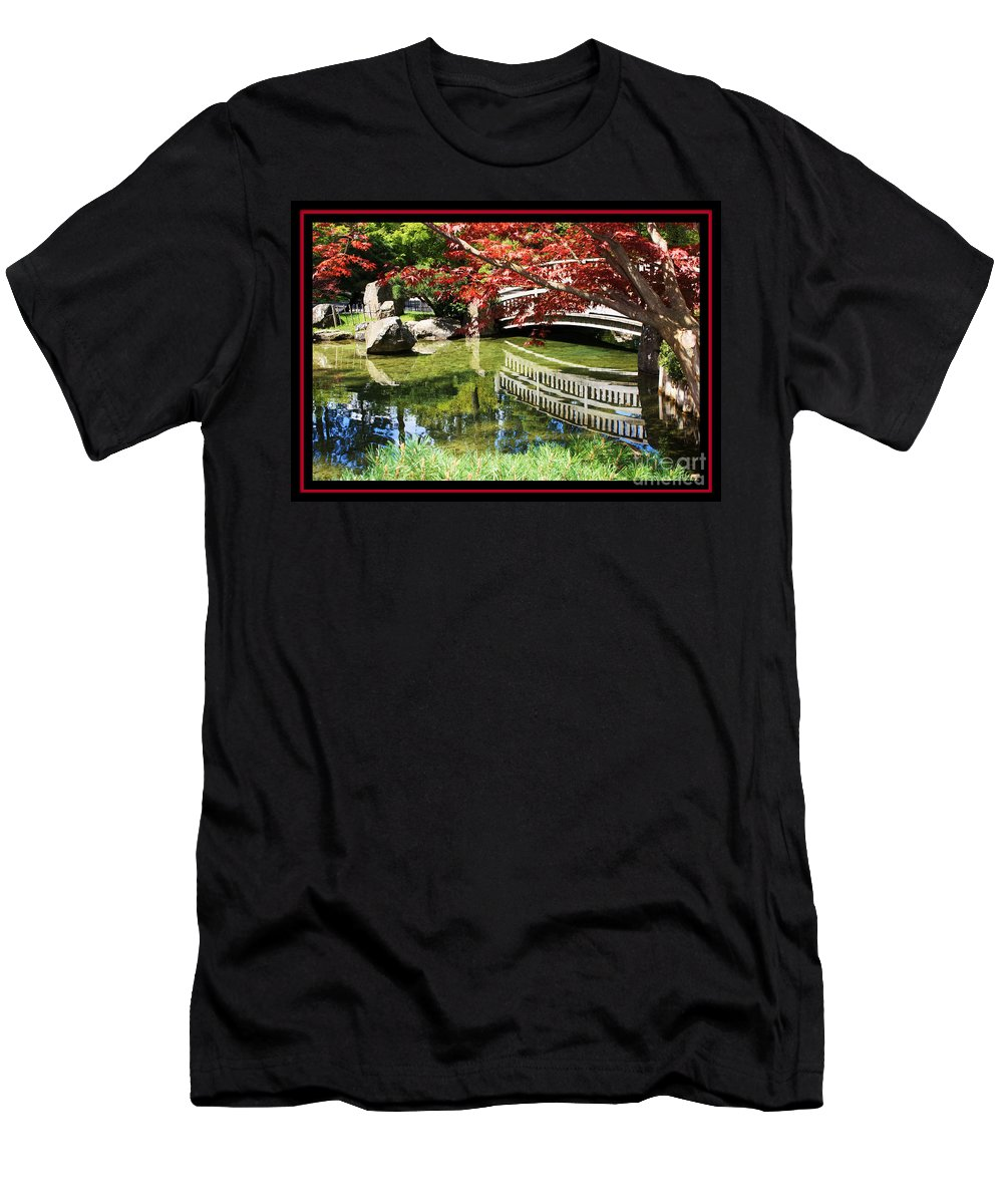 Spring Men's T-Shirt (Athletic Fit) featuring the photograph Over Springtime Pond by Carol Groenen