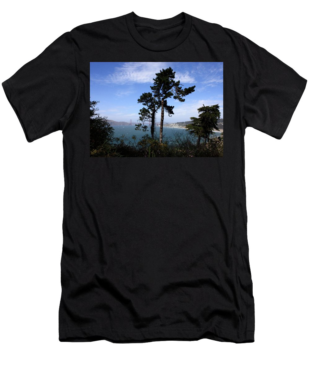 San Francisco Bay Men's T-Shirt (Athletic Fit) featuring the photograph Overlooking The Bay by Carol Groenen