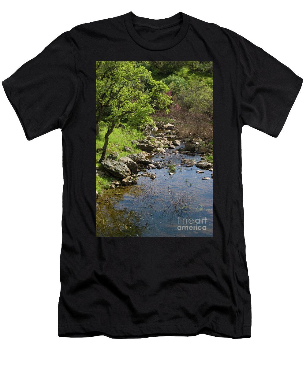 Oak Men's T-Shirt (Athletic Fit) featuring the photograph Owl Creek by Jim And Emily Bush