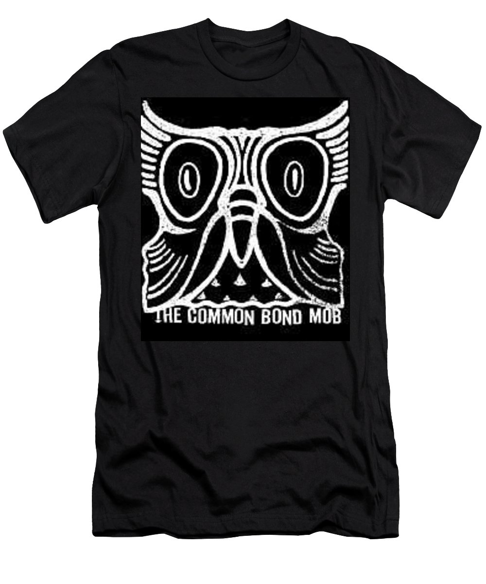 Owl Men's T-Shirt (Athletic Fit) featuring the digital art Owl Wood Block by Frankie Mcvay