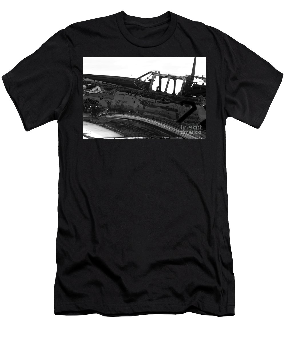 P 51 Fighter Men's T-Shirt (Athletic Fit) featuring the photograph P 51 C by David Lee Thompson