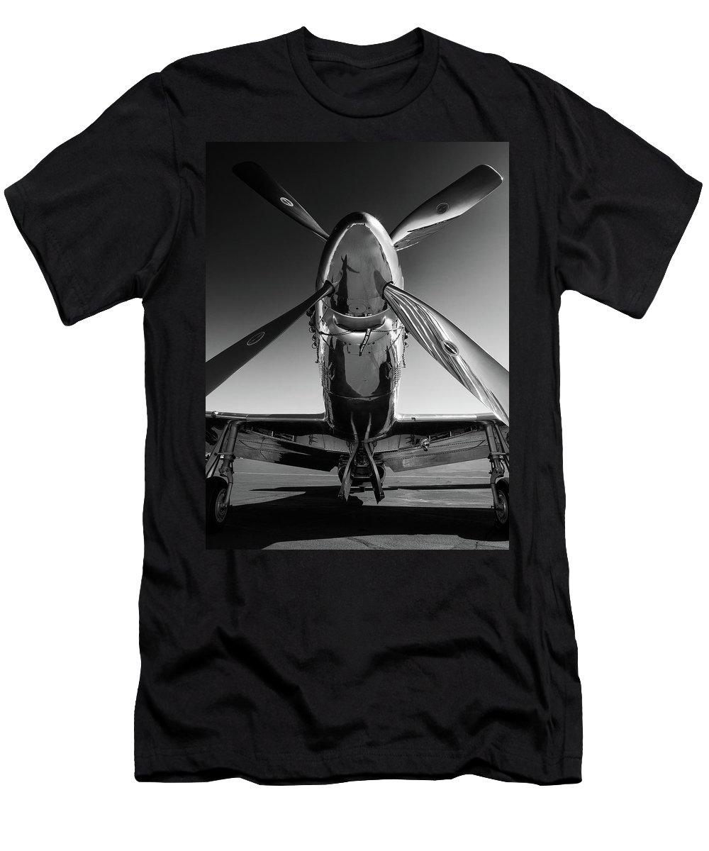 P51 T-Shirt featuring the photograph P-51 Mustang by John Hamlon