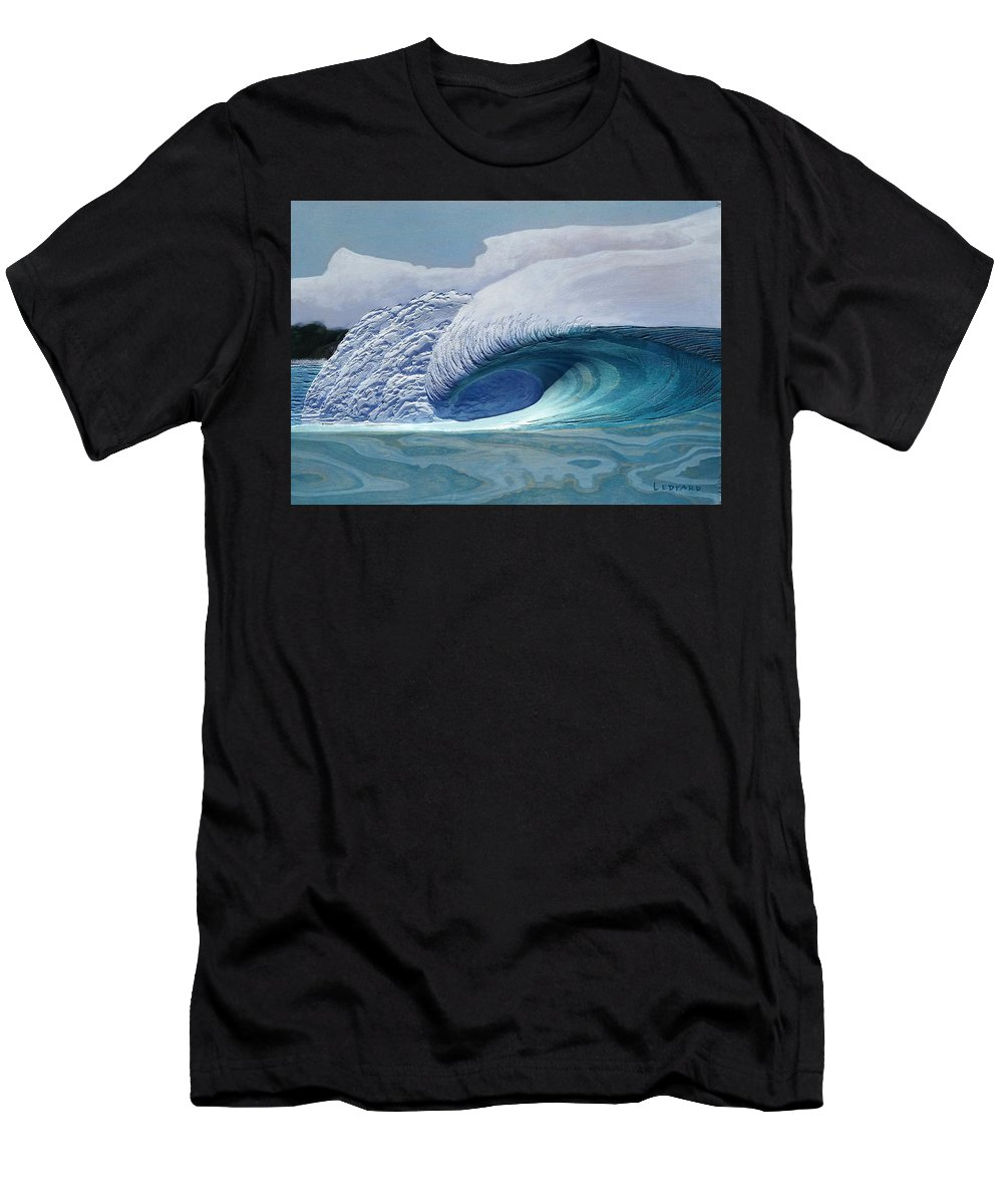 Surf Art Men's T-Shirt (Athletic Fit) featuring the painting Pacific Dream by Nathan Ledyard