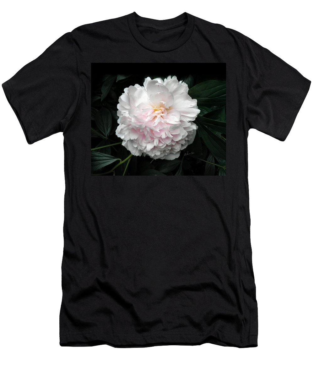 Peony Men's T-Shirt (Athletic Fit) featuring the photograph Paeon by T Cook