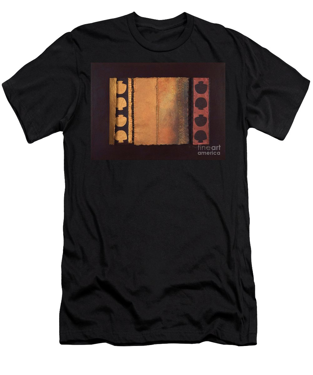 Artistbook Men's T-Shirt (Athletic Fit) featuring the painting Page Format No.4 Tansitional Series by Kerryn Madsen-Pietsch