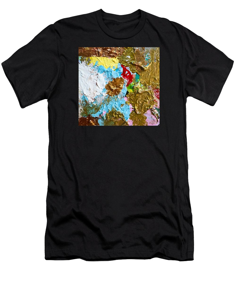 Painting Men's T-Shirt (Athletic Fit) featuring the painting Paint Palette 2 by Stephanie Berry