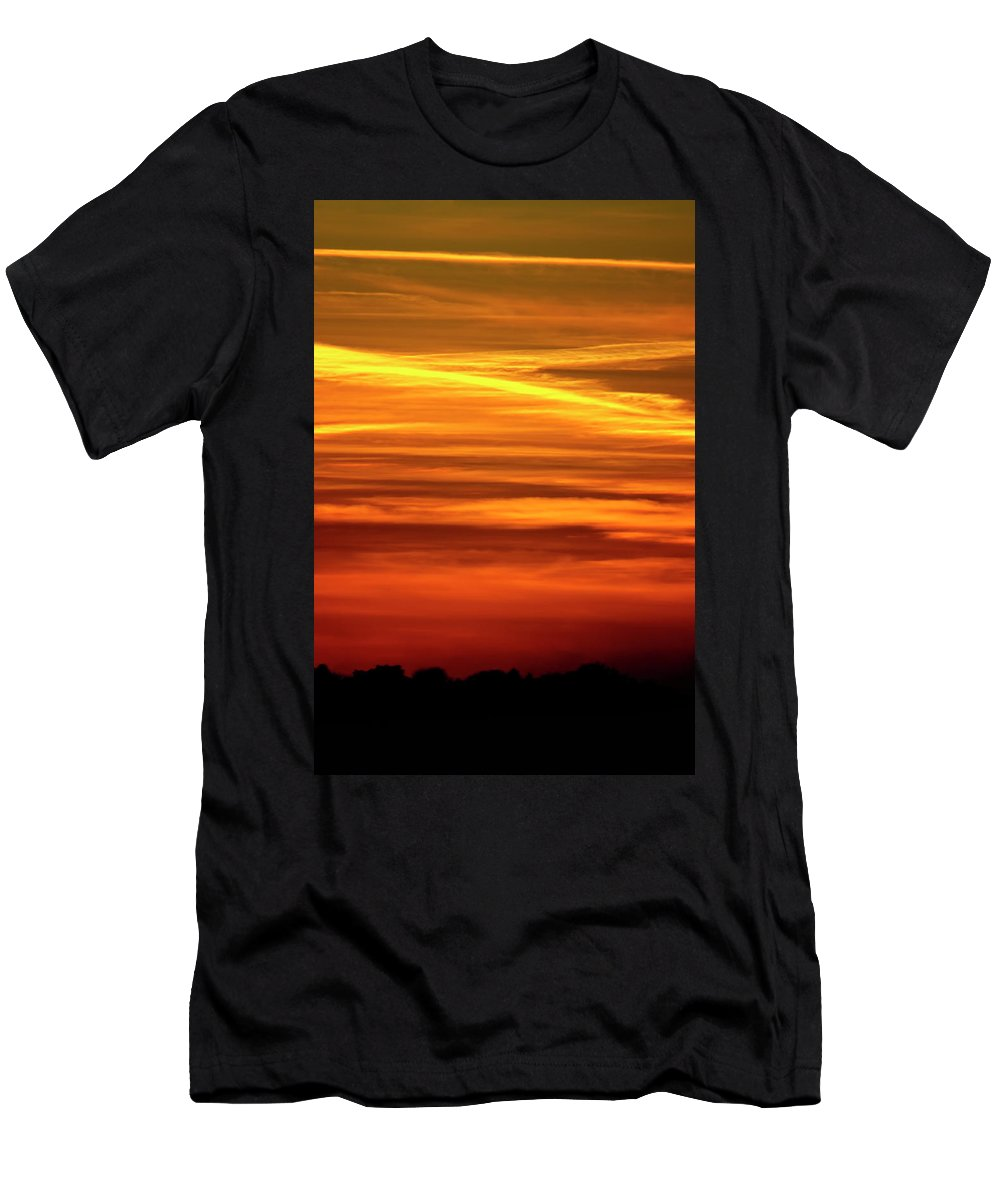 Sunset Men's T-Shirt (Athletic Fit) featuring the photograph Paint The Sky Gold by Vicki Field