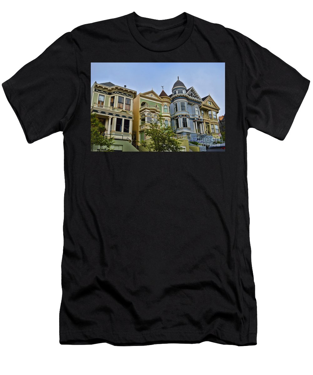 Painted Ladies Men's T-Shirt (Athletic Fit) featuring the photograph Painted Ladies -2 by Tommy Anderson