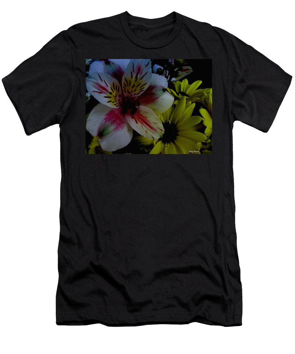 Art For The Wall...patzer Photography Men's T-Shirt (Athletic Fit) featuring the photograph Painted Lily by Greg Patzer