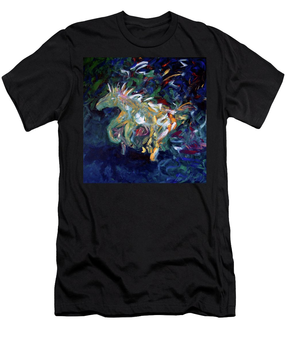 Abstract Horse Men's T-Shirt (Athletic Fit) featuring the painting Painted Pony by Lance Headlee