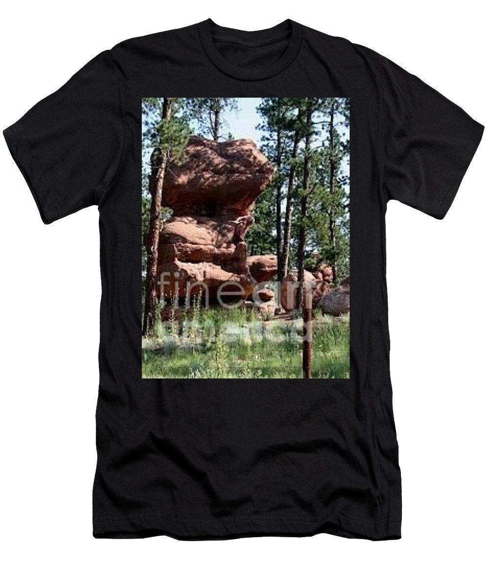 Painted Rock Men's T-Shirt (Athletic Fit) featuring the photograph Painted Rock 2 by Lana Raffensperger
