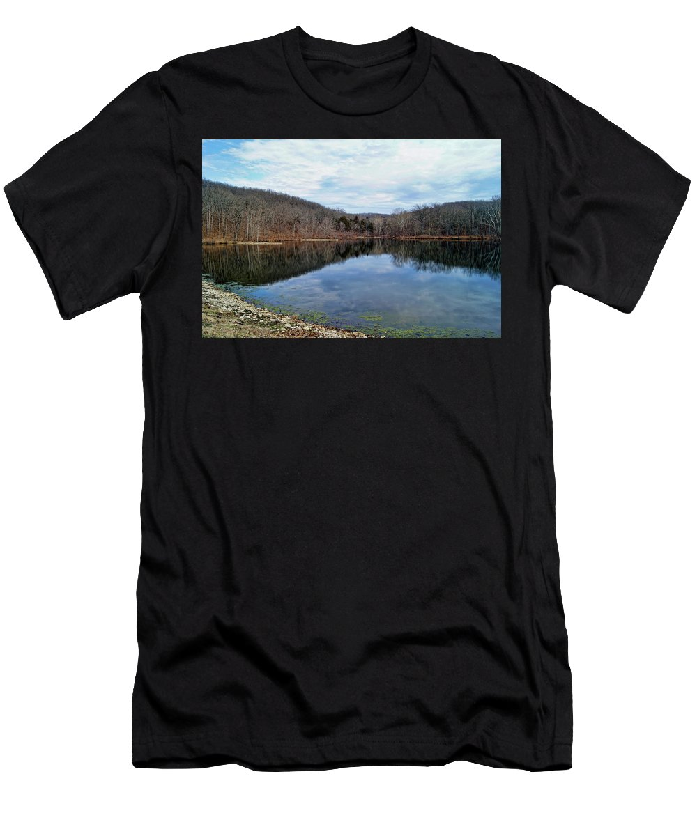 �painted Rock Conservation Area� Men's T-Shirt (Athletic Fit) featuring the photograph Painted Rock Conservation Area by Cricket Hackmann