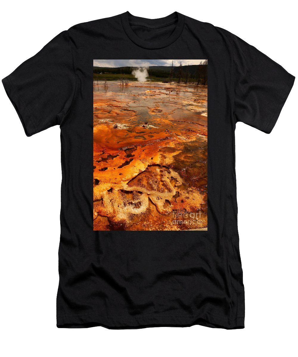 Park Men's T-Shirt (Athletic Fit) featuring the photograph Painting Of Nature by Christiane Schulze Art And Photography
