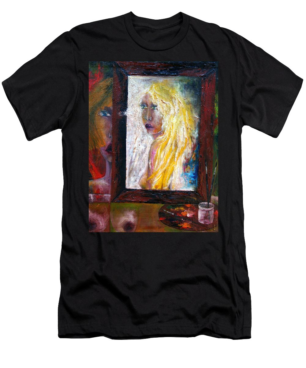 Imagination Men's T-Shirt (Athletic Fit) featuring the painting Painting by Wojtek Kowalski