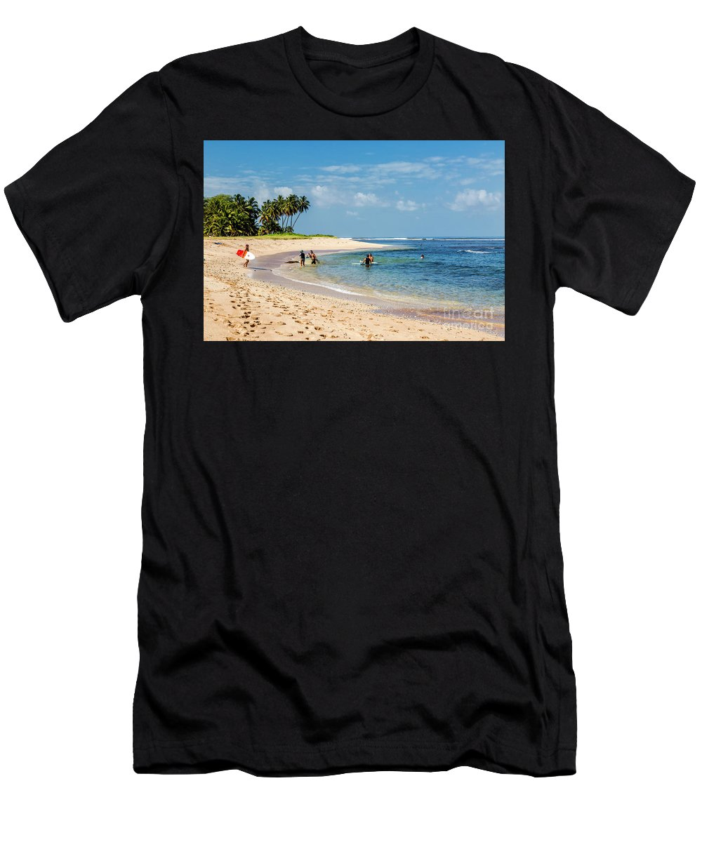 Pakala Point Beachdaryl L. Hunter Men's T-Shirt (Athletic Fit) featuring the photograph Pakala Point Beach by Daryl L Hunter