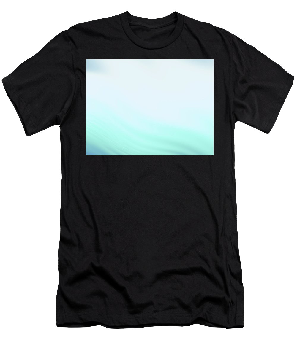 Abstract Men's T-Shirt (Athletic Fit) featuring the digital art Pale Turquoise Waves by Rich Leighton