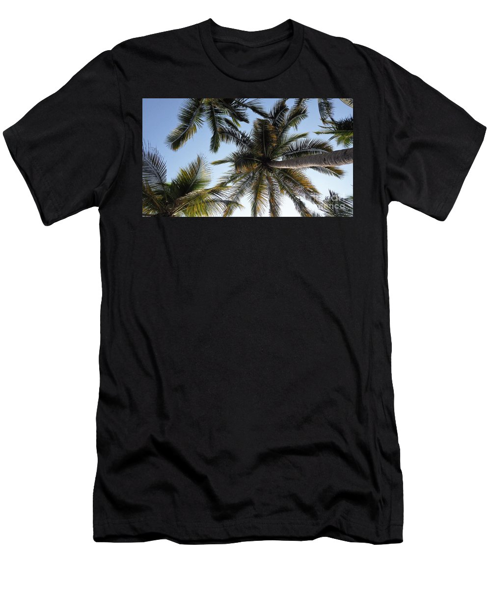 Palm Men's T-Shirt (Athletic Fit) featuring the photograph Palm Collection - Standing Tall by Victor K