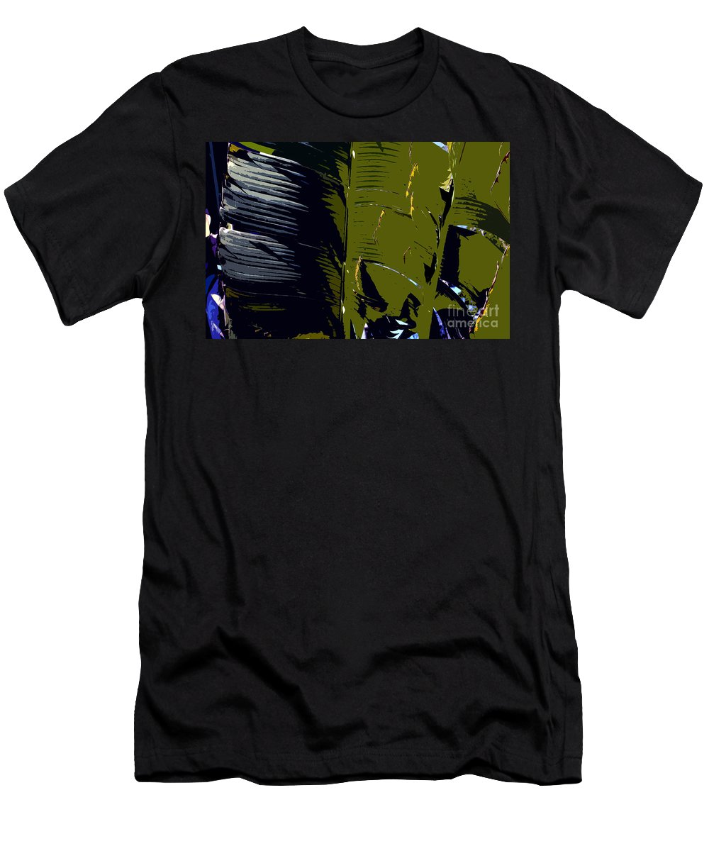 Palm Fronds Men's T-Shirt (Athletic Fit) featuring the painting Palm Fronds by David Lee Thompson