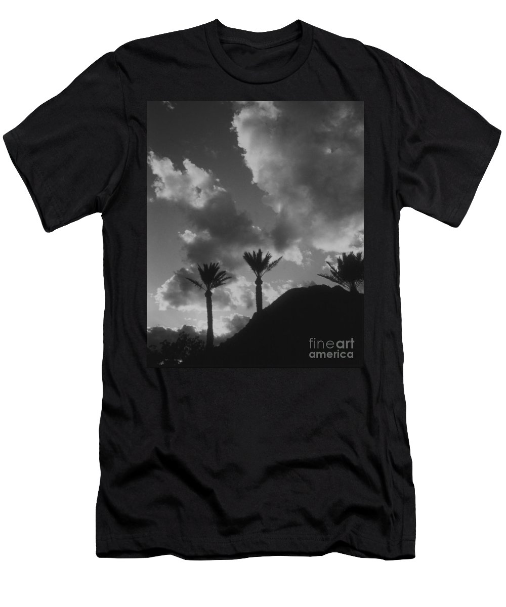 Men's T-Shirt (Athletic Fit) featuring the photograph Palm Silhouette by Heather Kirk