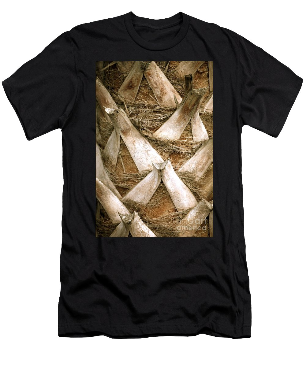 Bark Men's T-Shirt (Athletic Fit) featuring the photograph Palm Tree Bark by Nadine Rippelmeyer