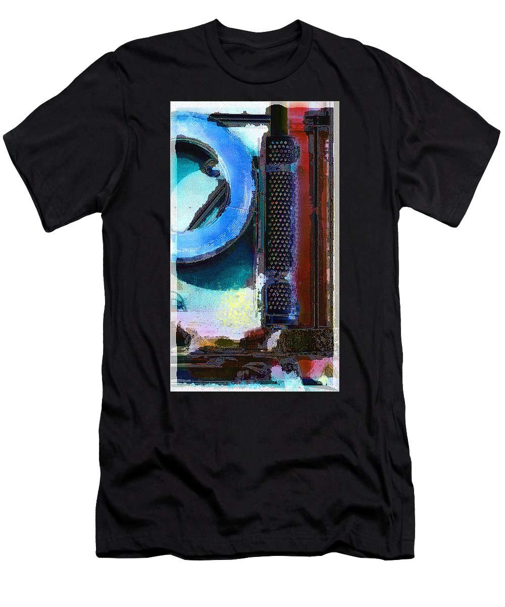 Abstract Men's T-Shirt (Athletic Fit) featuring the photograph panel one from Centrifuge by Steve Karol
