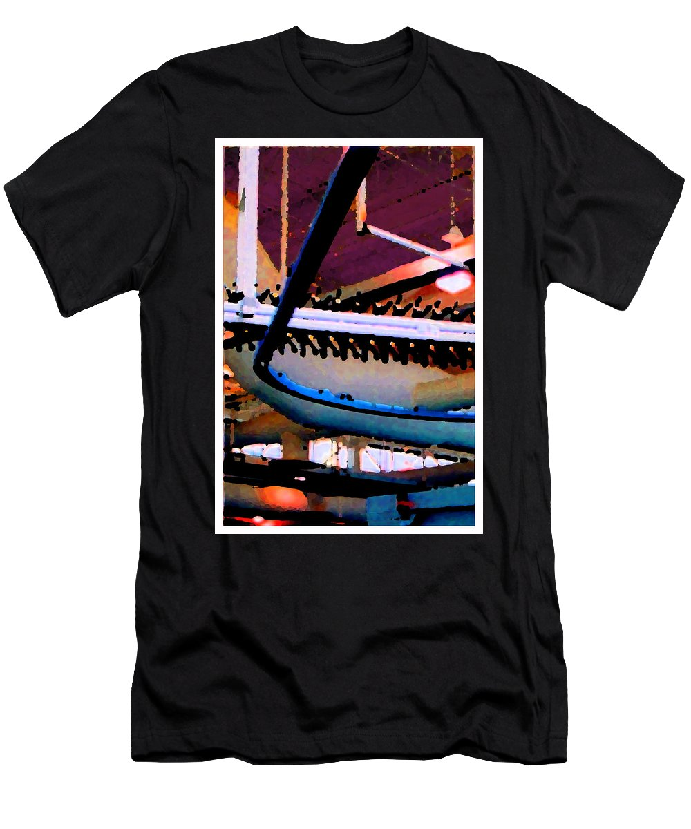 Abstract Men's T-Shirt (Athletic Fit) featuring the photograph Panel Three From Star Factory by Steve Karol