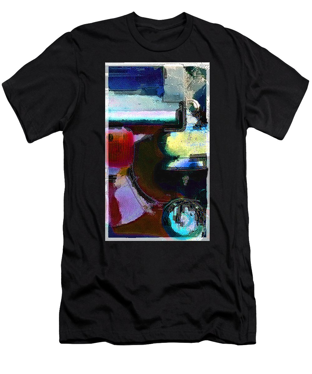 Abstract Men's T-Shirt (Athletic Fit) featuring the photograph panel two from Centrifuge by Steve Karol