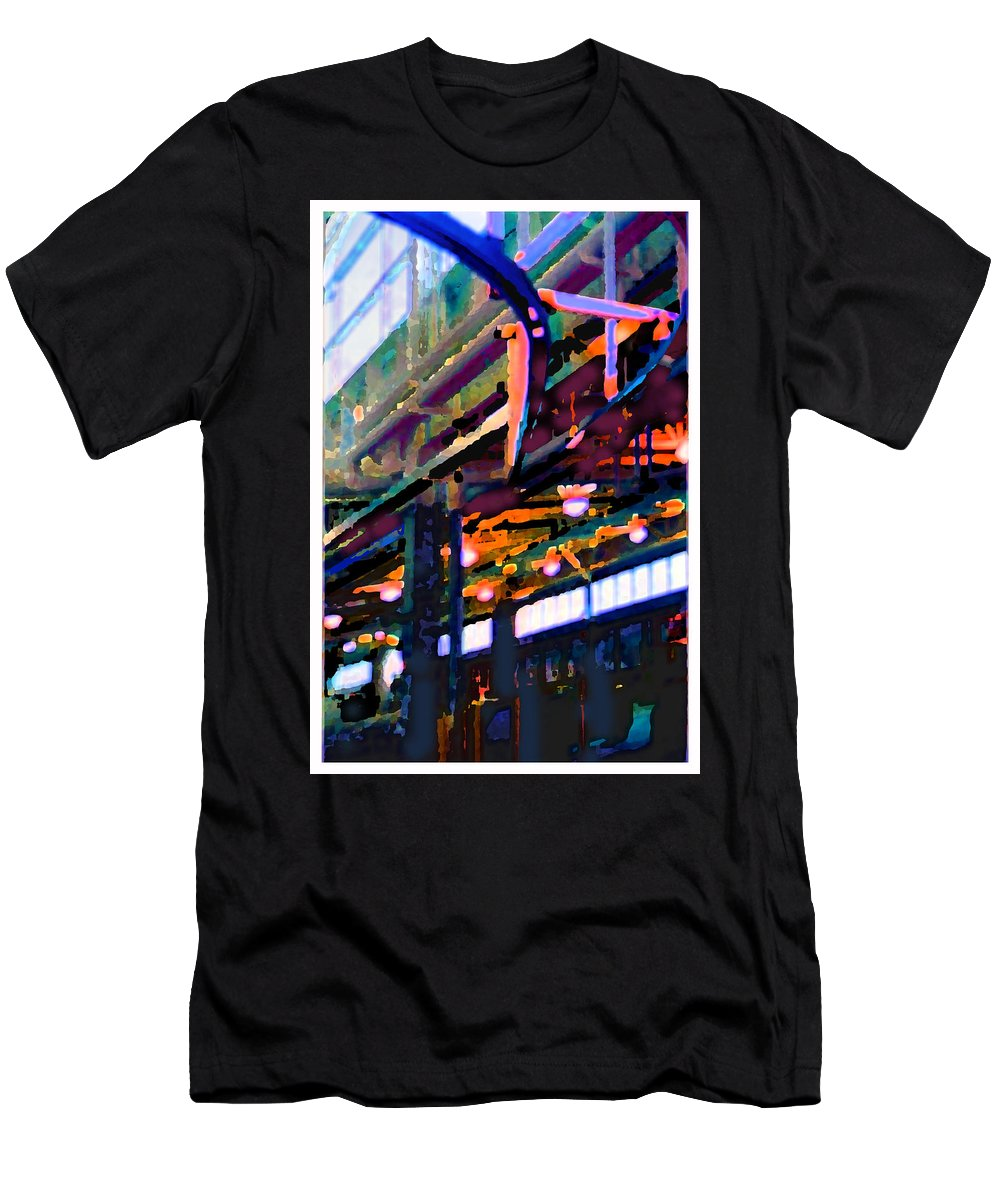 Abstract T-Shirt featuring the photograph panel two from Star Factory by Steve Karol