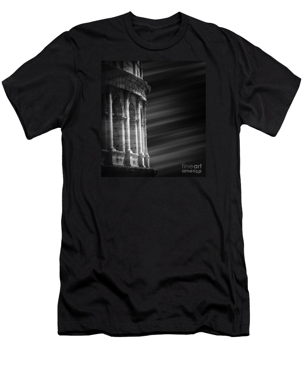 Colosseum Men's T-Shirt (Athletic Fit) featuring the photograph Panorama Of Roma by Stefano Senise
