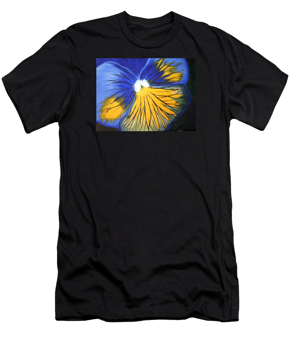 Pansy Men's T-Shirt (Athletic Fit) featuring the painting Pansy Face by Brandy House