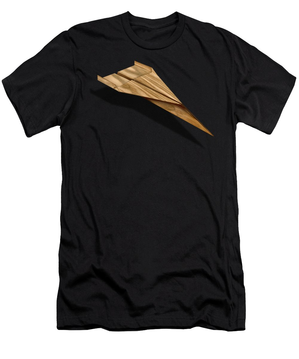 Aircraft Men's T-Shirt (Athletic Fit) featuring the photograph Paper Airplanes Of Wood 3 by YoPedro