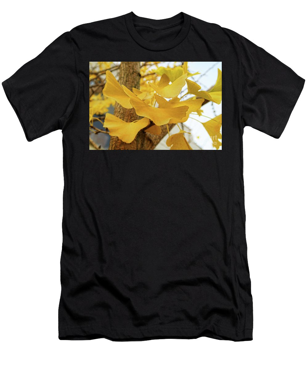 Fall Foliage Men's T-Shirt (Athletic Fit) featuring the photograph Paper Leaves by Doug Berry