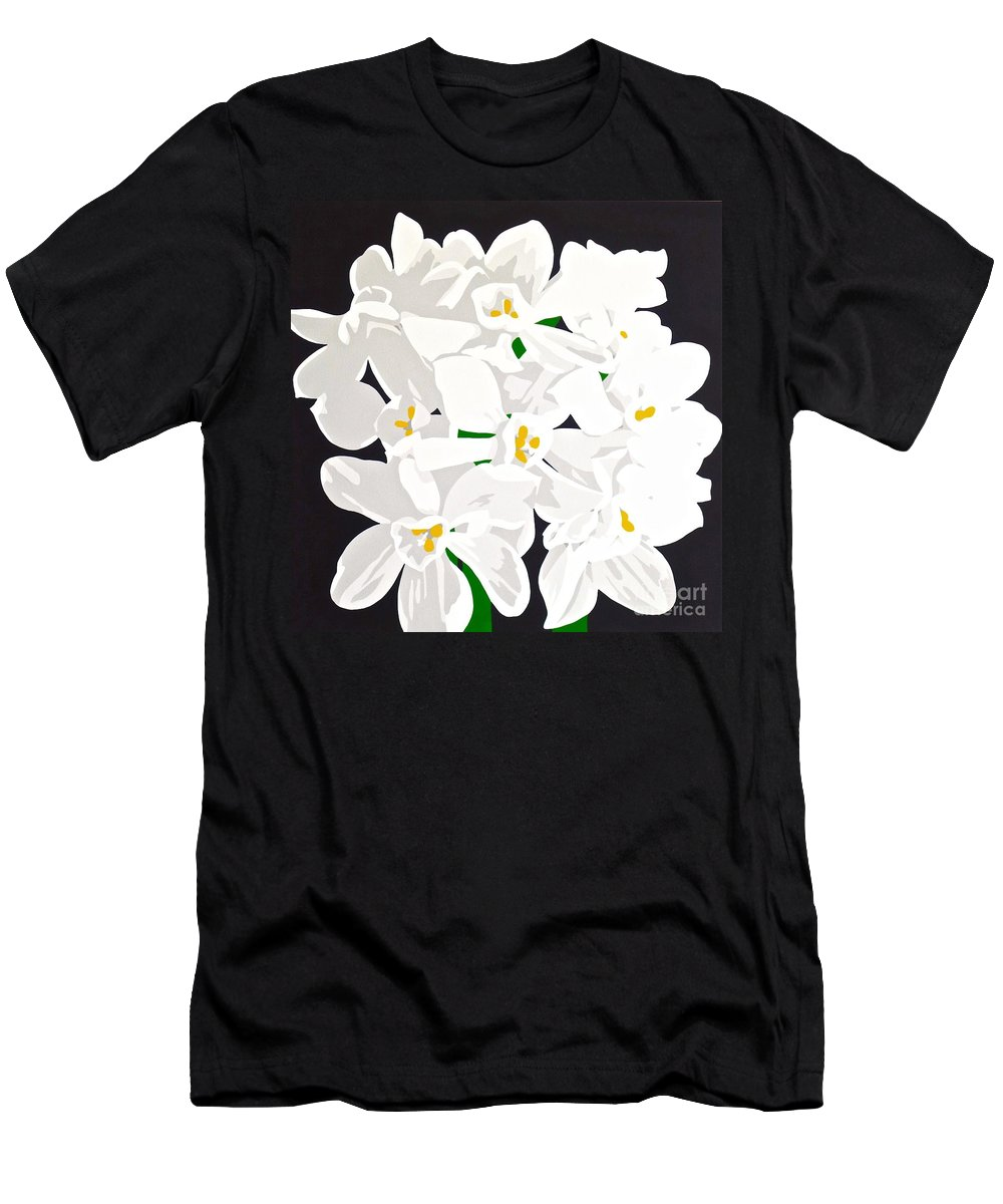 Acrylic Men's T-Shirt (Athletic Fit) featuring the painting Paperwhites by Susan Porter