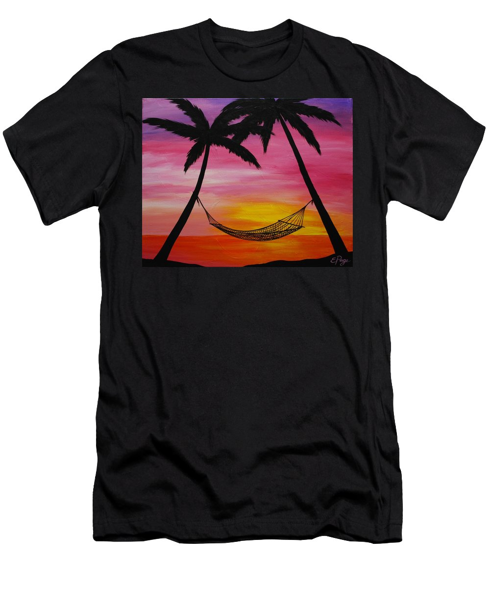 Hammock Men's T-Shirt (Athletic Fit) featuring the painting Paradise by Emily Page