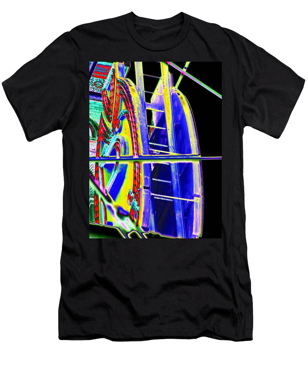 Seattle Men's T-Shirt (Athletic Fit) featuring the digital art Paramount Theater Detail by Tim Allen