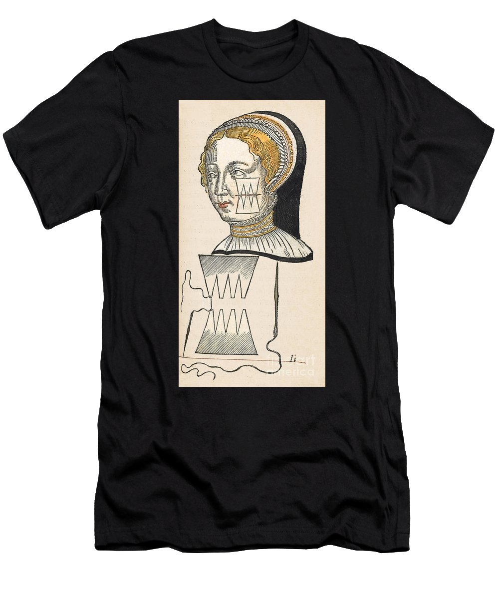 History Men's T-Shirt (Athletic Fit) featuring the photograph Pare Suture, 1500s by Wellcome Images