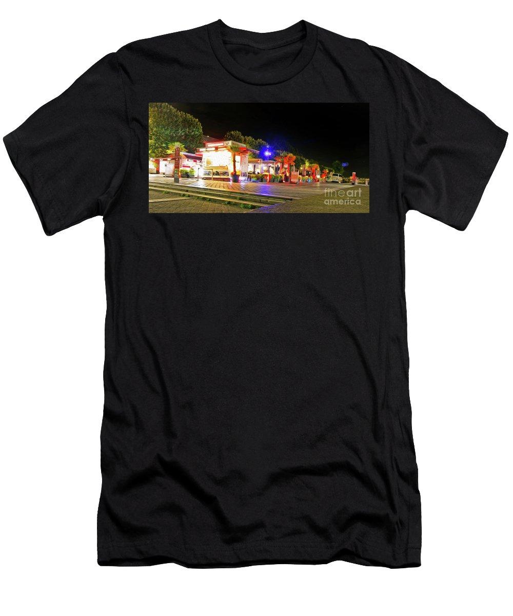 Paris Men's T-Shirt (Athletic Fit) featuring the photograph Paris At Night 13 Art by Alex Art and Photo