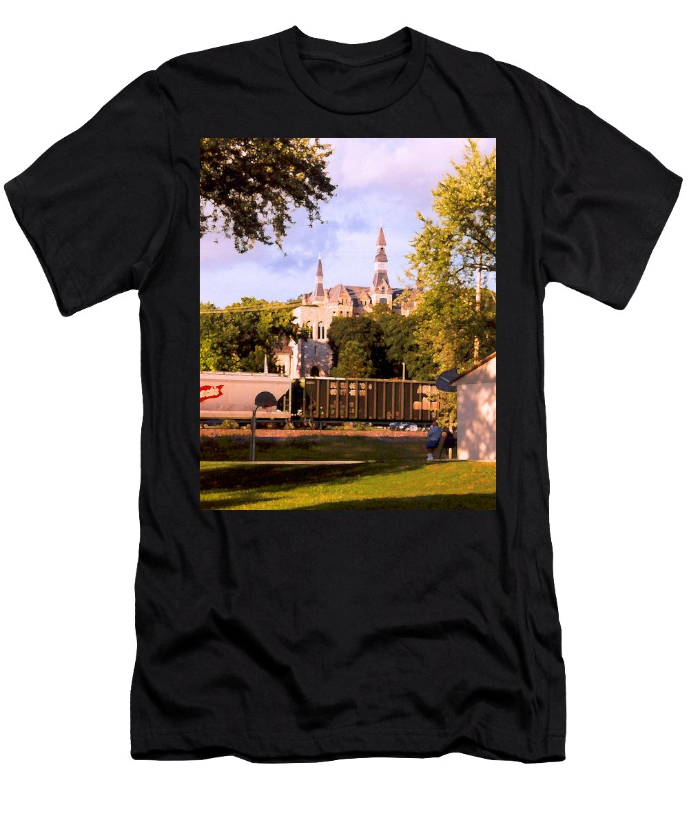 Landscape Men's T-Shirt (Athletic Fit) featuring the photograph Park University by Steve Karol