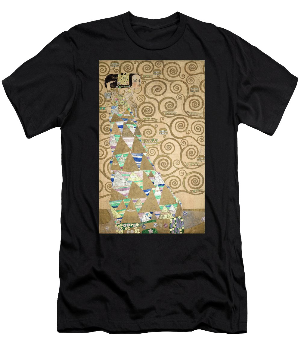 Tree Of Life Men's T-Shirt (Athletic Fit) featuring the painting Part Of The Tree Of Life, Part 2 by Gustav Klimt
