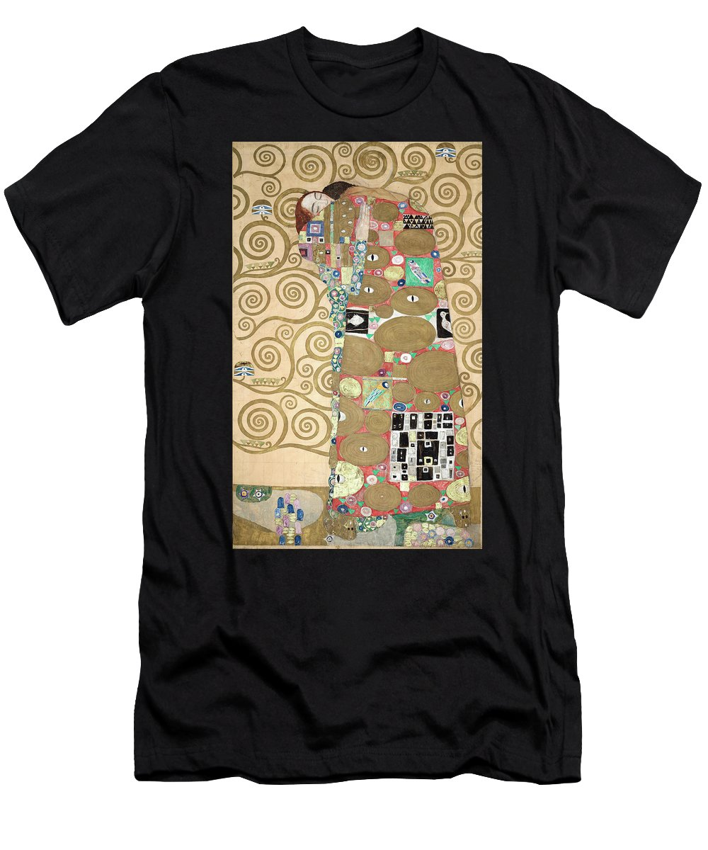 Tree Of Life Men's T-Shirt (Athletic Fit) featuring the painting Part Of The Tree Of Life, Part 8 by Gustav Klimt