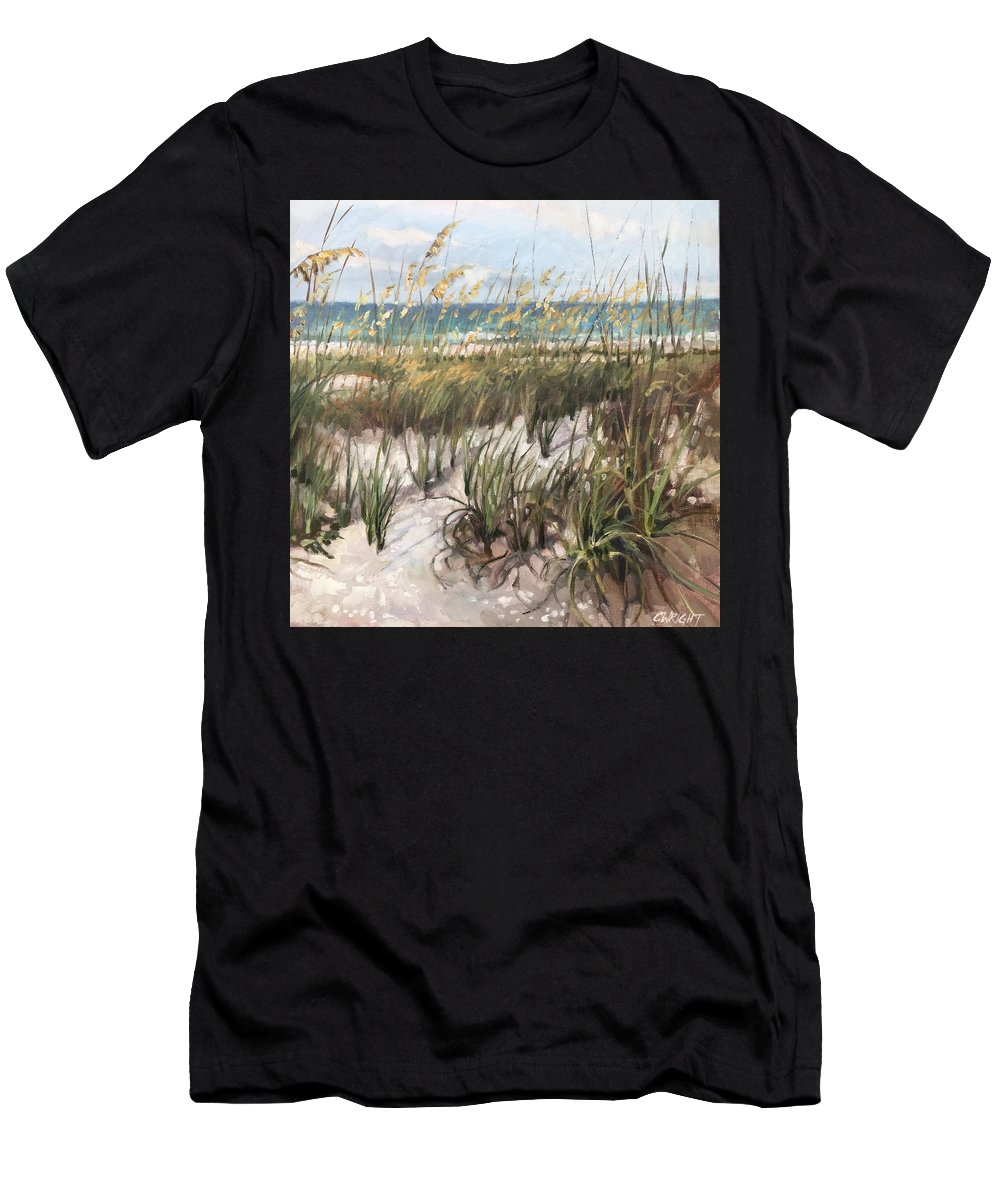 Anna Maria Island Men's T-Shirt (Athletic Fit) featuring the painting Waiting On The Sun by Cory Wright