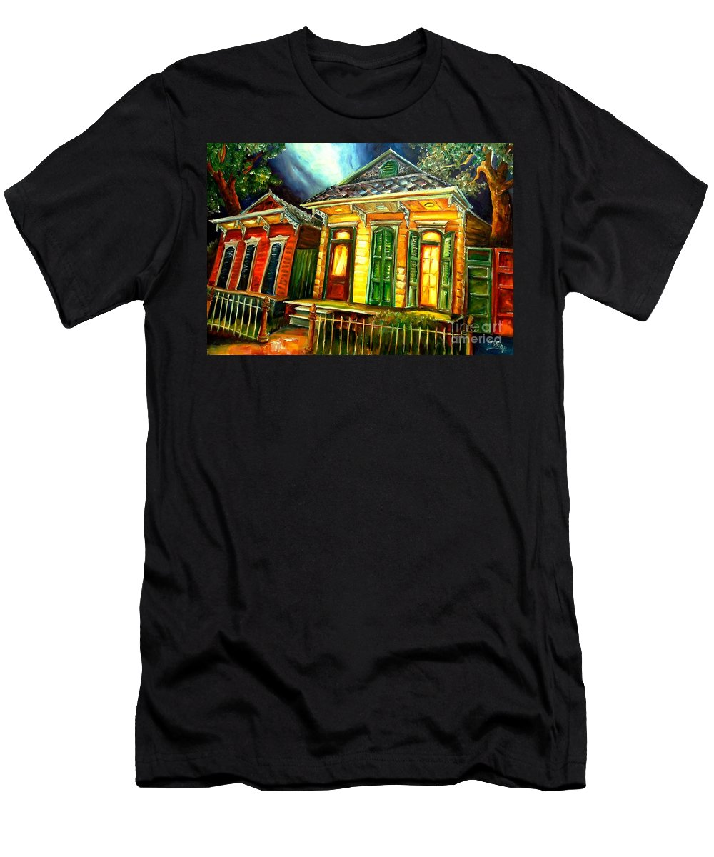 New Orleans Men's T-Shirt (Athletic Fit) featuring the painting Partners by Diane Millsap