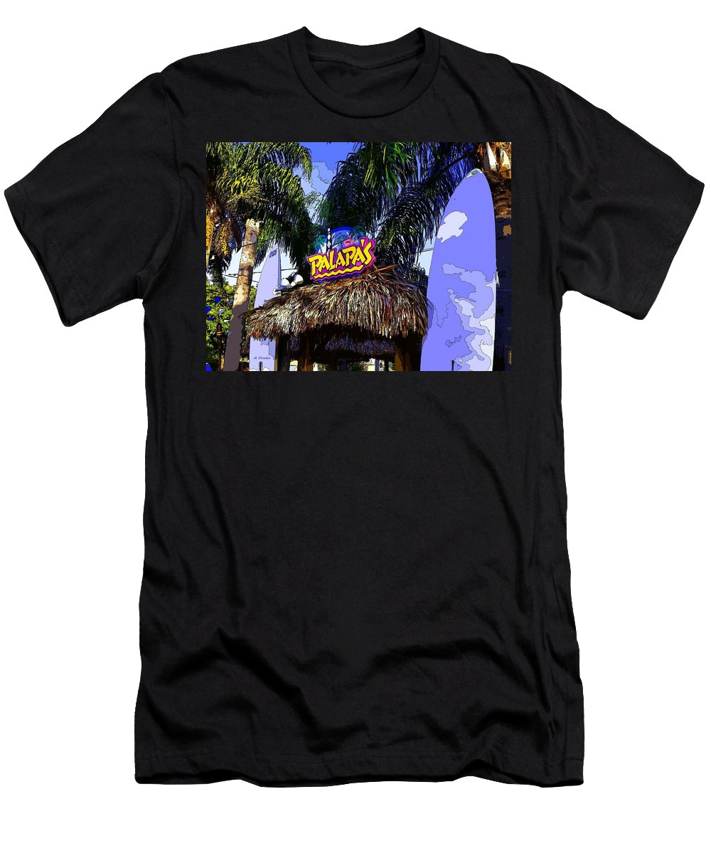Party Men's T-Shirt (Athletic Fit) featuring the digital art Party At Palapas by Alec Drake