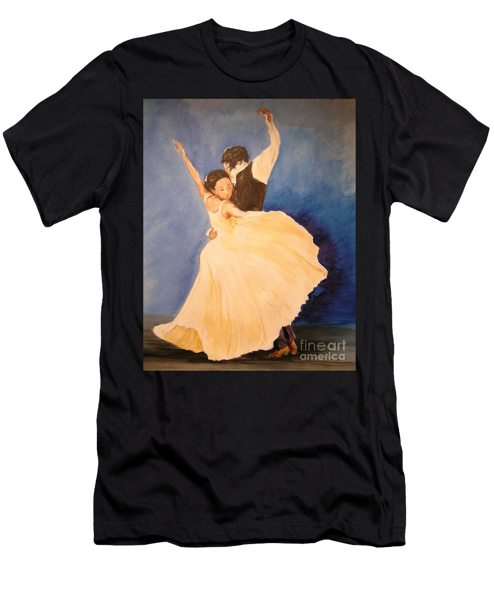 Spain Men's T-Shirt (Athletic Fit) featuring the painting Pasion Gitana by Lizzy Forrester