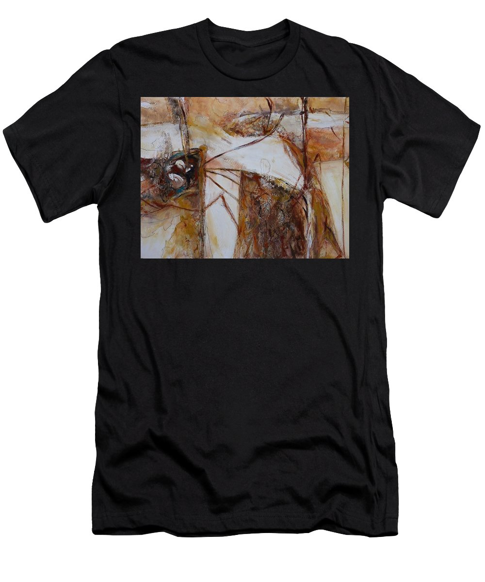 Abstract Men's T-Shirt (Athletic Fit) featuring the painting Passages #2 by Myra Evans