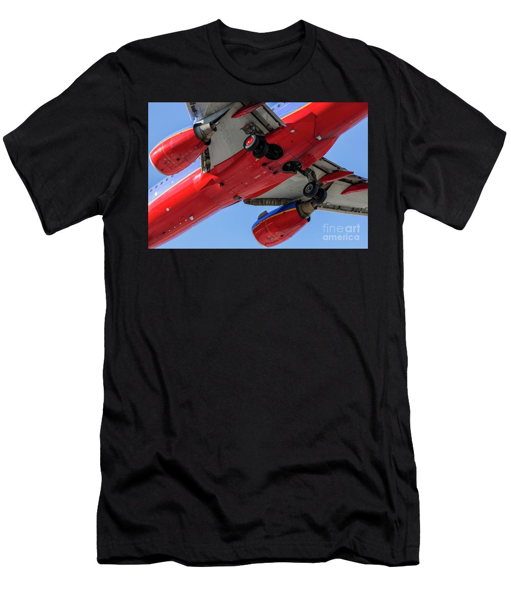 Commercial Men's T-Shirt (Athletic Fit) featuring the photograph Passenger Jet Coming In For Landing 10 by PhotoStock-Israel