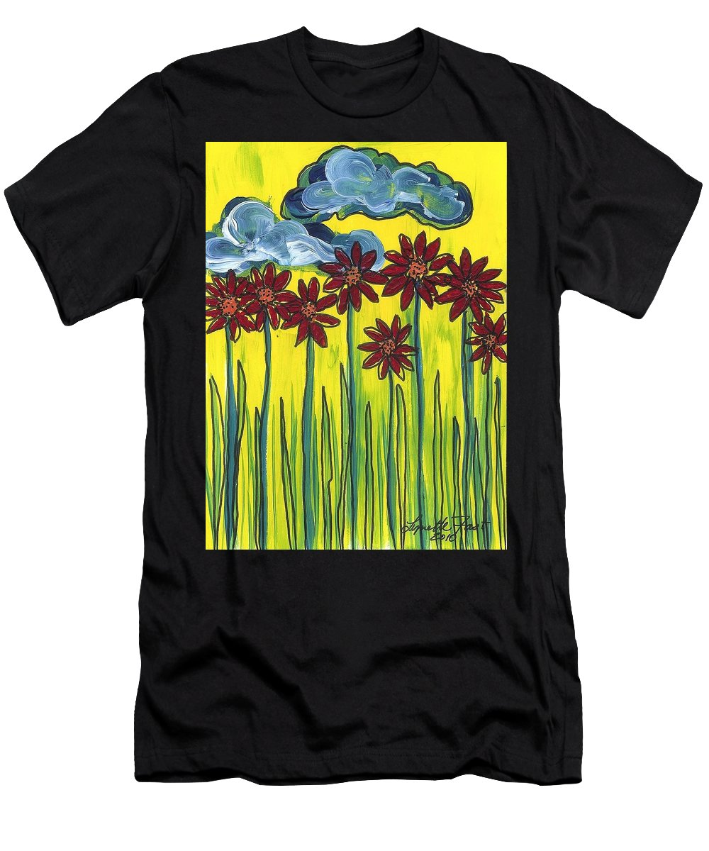 Summer Men's T-Shirt (Athletic Fit) featuring the painting Passing Time 64 by Lynette Fast
